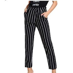 BIANCA Striped Ankle Pants